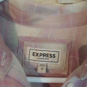 Express Tops - Express boyfriend flannel